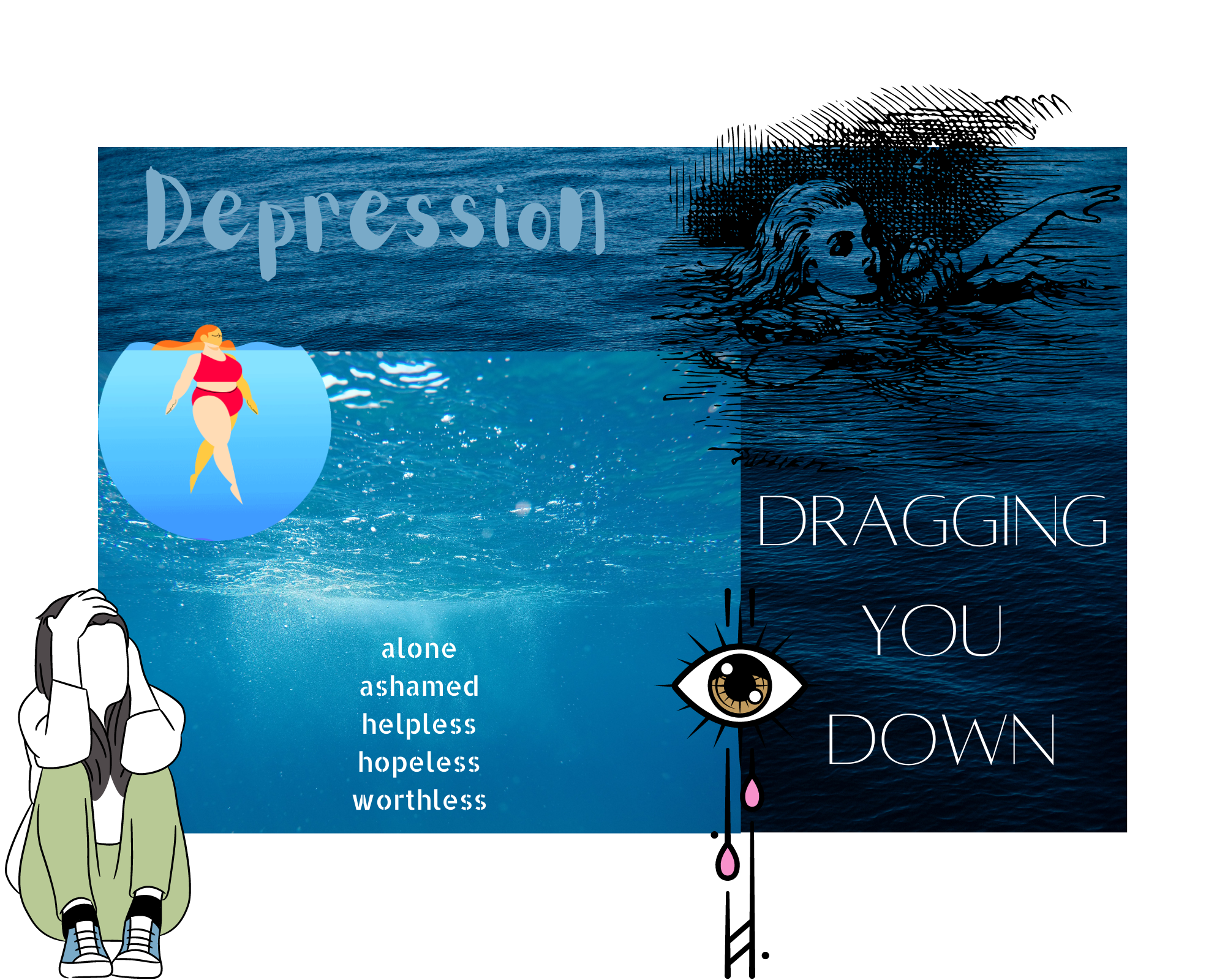 Depression. Dragging you down.